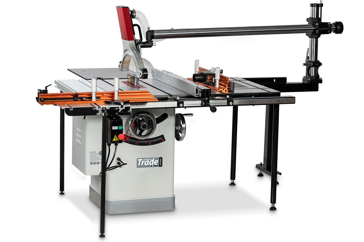 Axminster Trade Table Saw Shown With Optional Accessories