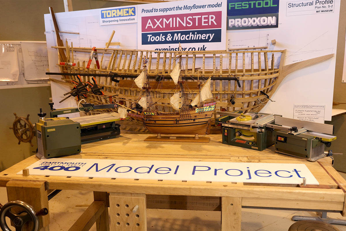 the model of the Mayflower is progressing steadily