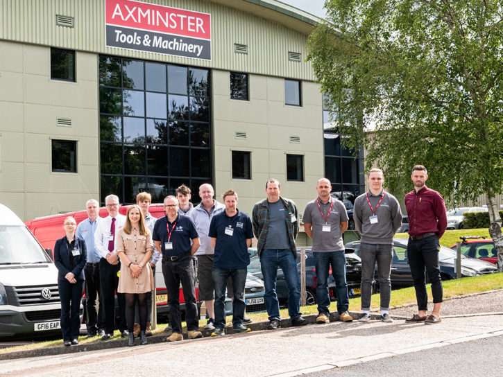 Collaborative workshop between JSP and Axminster Tools and Machinery