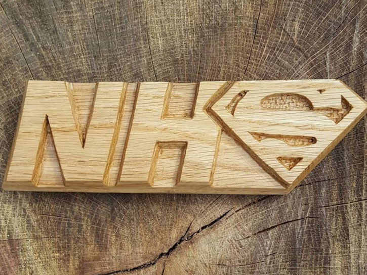 NHS Hero Plaque