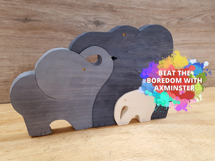 Beat the Boredom - Wooden Elephants scroll saw project