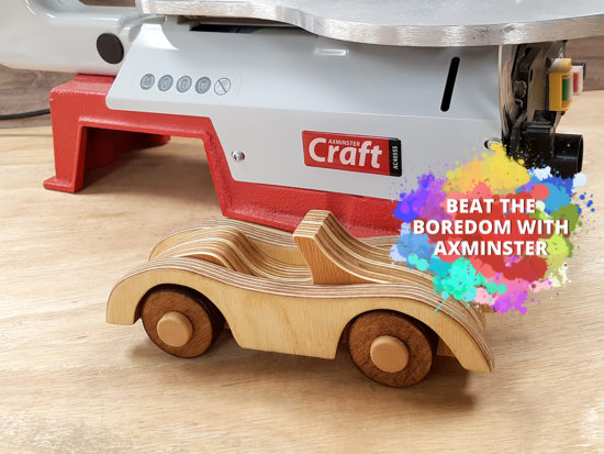 Completed wooden toy car