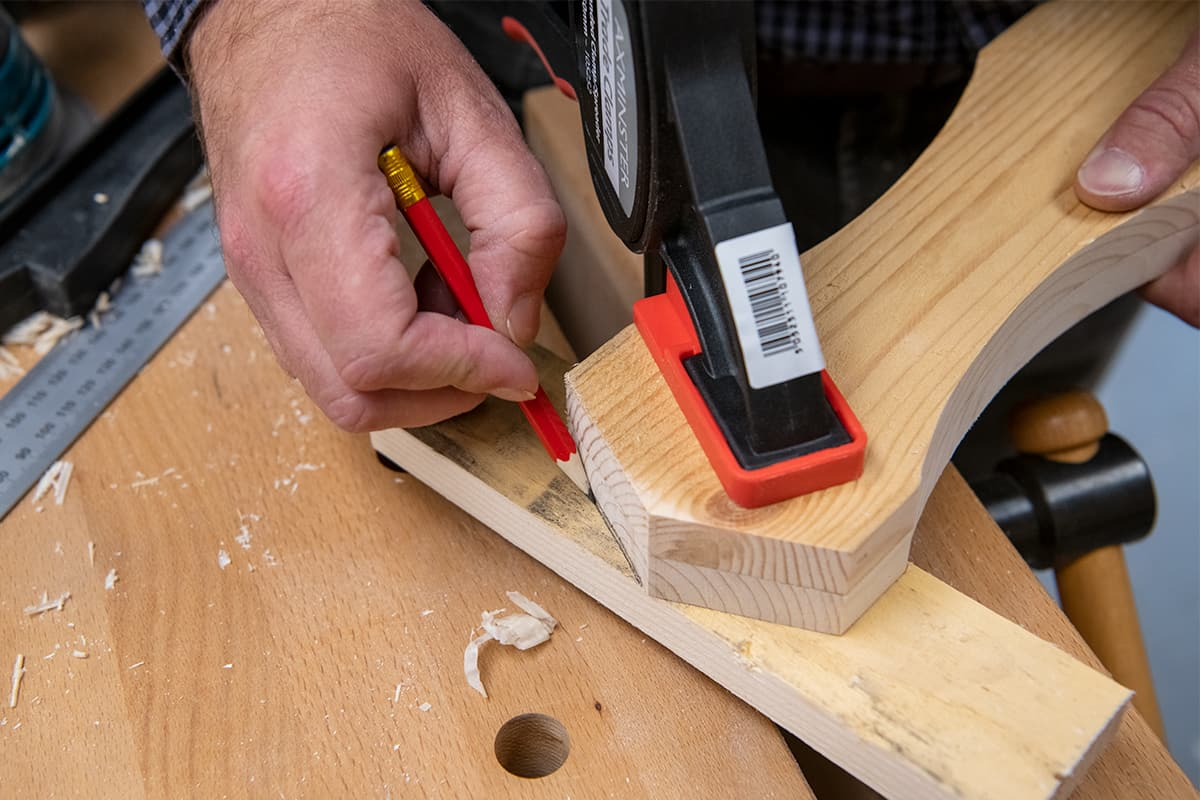 Use your sides as a template to cut the pitch of the roof